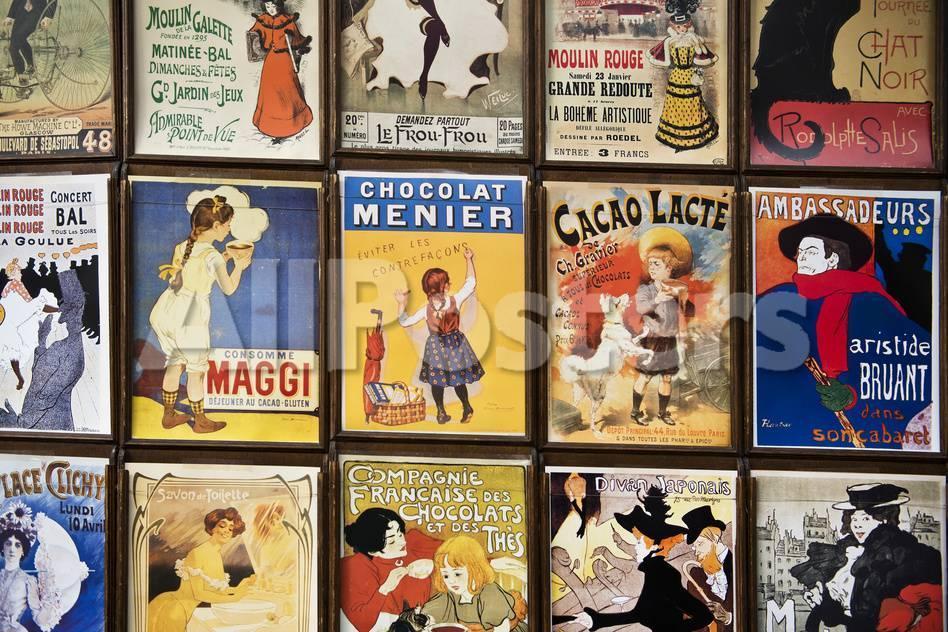 alte französische Postkarten, Galerie, Montmartre, Paris, Frankreich ...