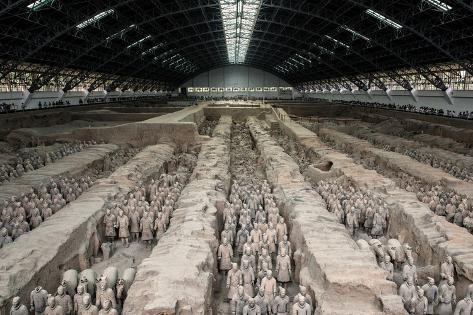 China 10MKm2 Collection - Terracotta Warriors and Horses Fotografie-Druck