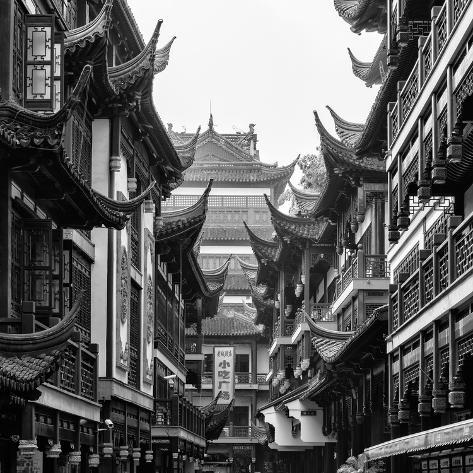 China 10MKm2 Collection - Traditional Architecture in Yuyuan Garden - Shanghai Fotografie-Druck