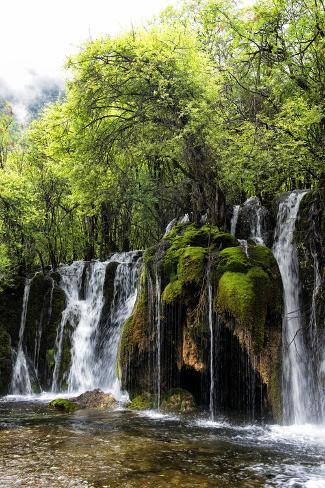 China 10MKm2 Collection - Waterfalls in the Jiuzhaigou National Park Fotografie-Druck