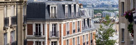 Paris Focus - Montmartre Architecture Fotografie-Druck