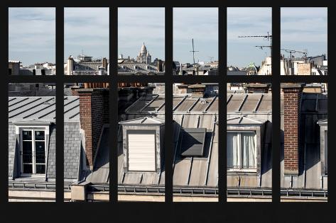 Paris Focus Paris Window View Fotoprint Van Philippe Hugonnard Bij