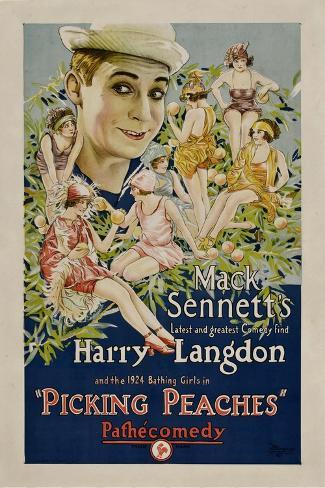 PICKING PEACHES, Harry Langdon with the 1924 Bathing Girls, 1924. Kunstdruck