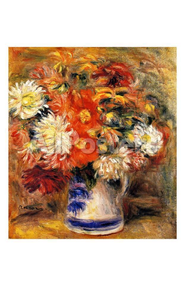 Chrysanthemen in Vase Giclée-Druck von Pierre-Auguste Renoir bei ...