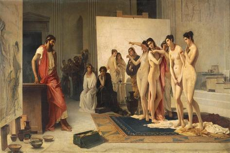 Zeuxis Choosing Five Young Women to Study their Shapes in Preparation for Depicting Figure of Helen Giclée-Druck