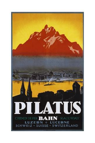 Pilatus Poster Giclée-Druck