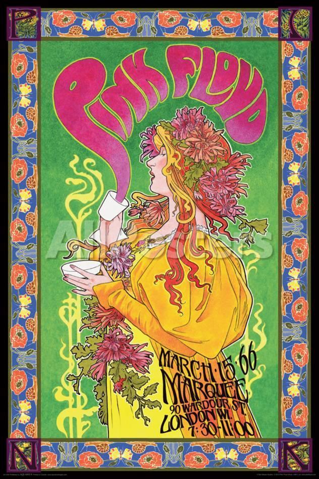 Pink Floyd Marquee \'66 Kunstdruck bei AllPosters.de