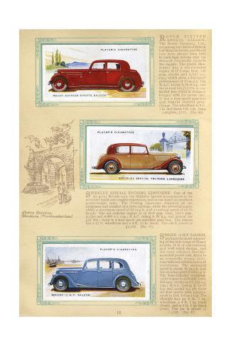 Player Motor Cars: Rover, Siddeley, Singer Giclée-Druck