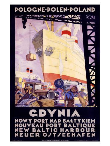 Polish Shipping Port of Gdynia Giclée-Druck