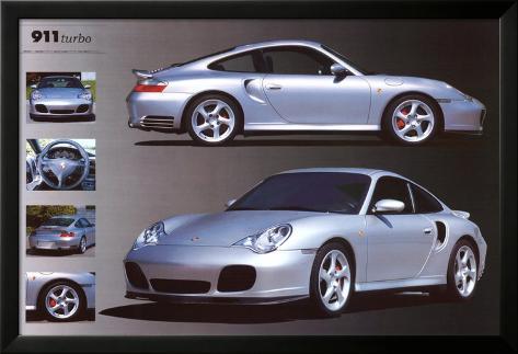 Porsche 911 Laminiertes gerahmtes Poster