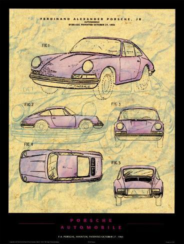 Porsche Patent Kunstdruck
