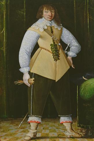 Portrait of a Royalist Cavalry Officer, C.1640 Giclée-Druck