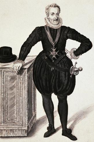 Portrait of Henry IV of France, King of France and Navarre Giclée-Druck