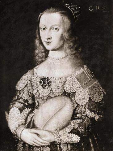 Portrait of Queen Christina of Sweden Giclée-Druck
