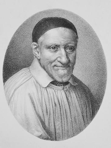 Portrait of Saint Vincent De Paul Giclée-Druck