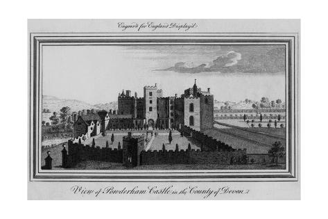 Powderham Castle, Devon Giclée-Druck