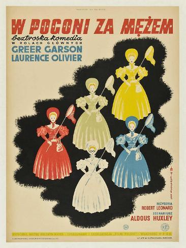 Pride and Prejudice, Polish Movie Poster, 1940 Kunstdruck