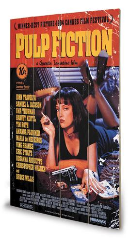 Pulp Fiction - Cover Wood Holzschild