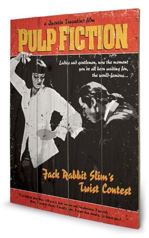 Pulp Fiction -Twist ContestWood Wood Sign Holzschild
