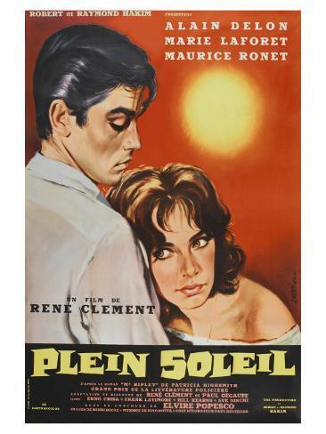 Purple Noon, French Movie Poster, 1964 Kunstdruck