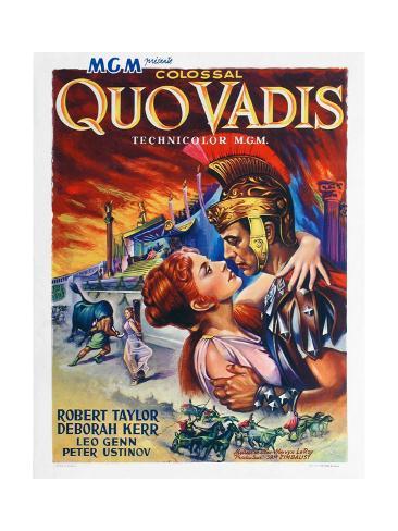 Quo Vadis, Deborah Kerr, Robert Taylor, 1951 Giclée-Druck