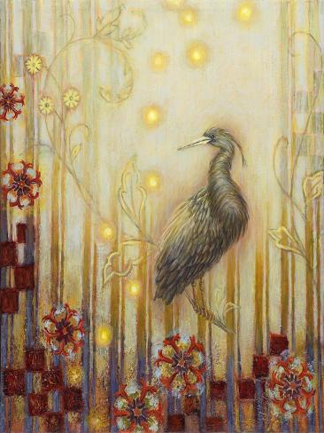 Wonderous Evening Heron Giclée-Druck