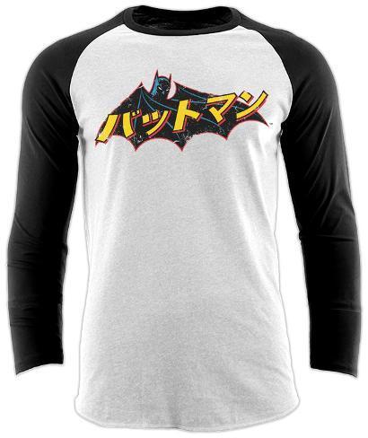 Raglan: Batman - Japanese Logo Raglans