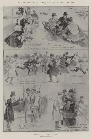The Oxford and Cambridge Boat-Race of 1901 Giclée-Druck