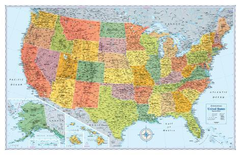 Rand Mcnally Signature United States Map Poster bei AllPosters.de