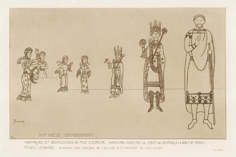 Nobility at the Start of the 12th Century Giclée-Druck