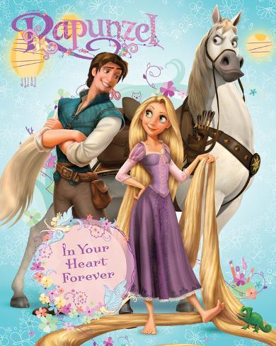 Rapunzel-Group Mini-Poster