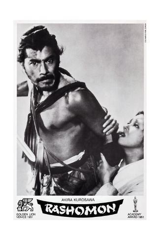 Rashomon, Swiss Poster Art, from Left: Toshiro Mifune, Machiko Kyo, 1950 Giclée-Druck