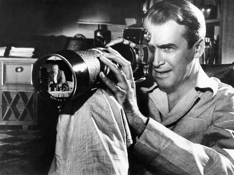 Rear Window, James Stewart, Raymond Burr (In Camera Lens), 1950 Foto