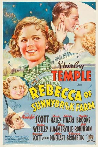 REBECCA OF SUNNYBROOK FARM, Phyllis Brooks, Shirley Temple, Randolph Scott, Gloria Stuart, 1938, Kunstdruck