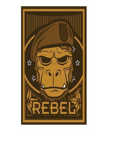 Rebel Planet of the Apes Kunstdruck