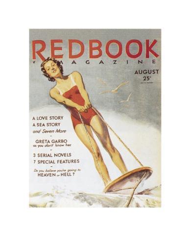 Redbook-Zeitschriftentitel: August 1933 Kunstdruck