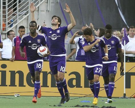 Mar 8, 2015, New York City FC vs Orlando City SC - Kaka, Kevin Molino, Rafael Ramos, Carlos Rivas Foto