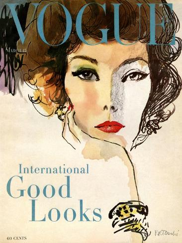 Vogue Cover - March 1958 - Good Looks Giclée-Premiumdruck