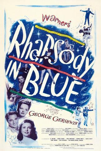 Rhapsody in Blue Kunstdruk