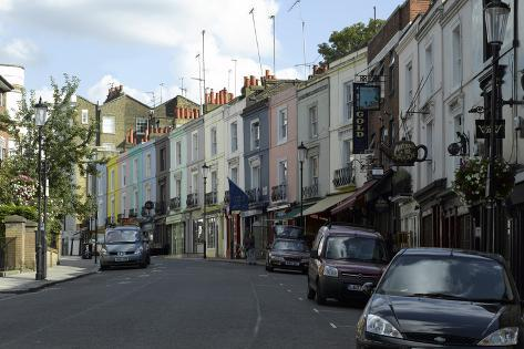 Portobello Road, Notting Hill, London Fotografie-Druck