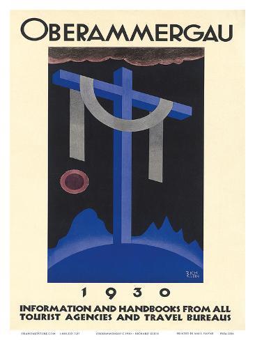 Oberammergau c.1930 Kunstdruck