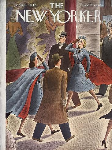 The New Yorker Cover - January 31, 1942 Giclée-Premiumdruck