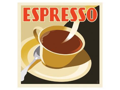 Deco Espresso I Premium gicléedruk