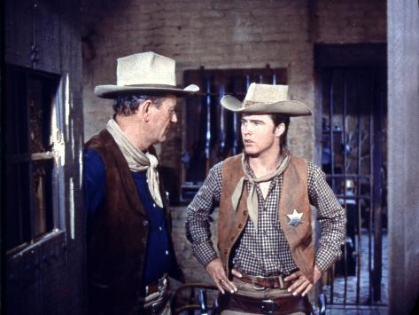 Rio Bravo, from Left: John Wayne, Ricky Nelson, 1959 Foto