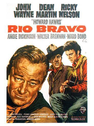 Rio Bravo, German Movie Poster, 1959 Kunstdruck