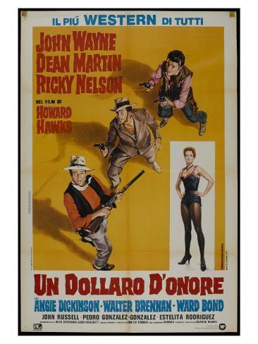 Rio Bravo, Italian Movie Poster, 1959 Kunstdruck