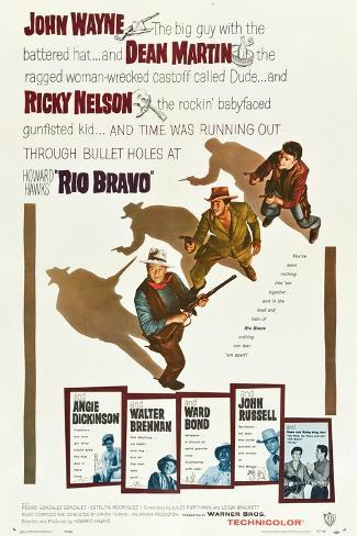 RIO BRAVO, John Wayne, Dean Martin, Ricky Nelson, 1959 Kunstdruck