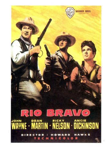 Rio Bravo, Spanish Movie Poster, 1959 Kunstdruck