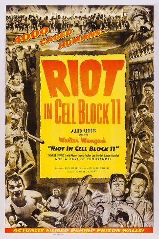 Riot in Cell Block 11, Neville Brand, (Bottom Right), 1954 Kunstdruck