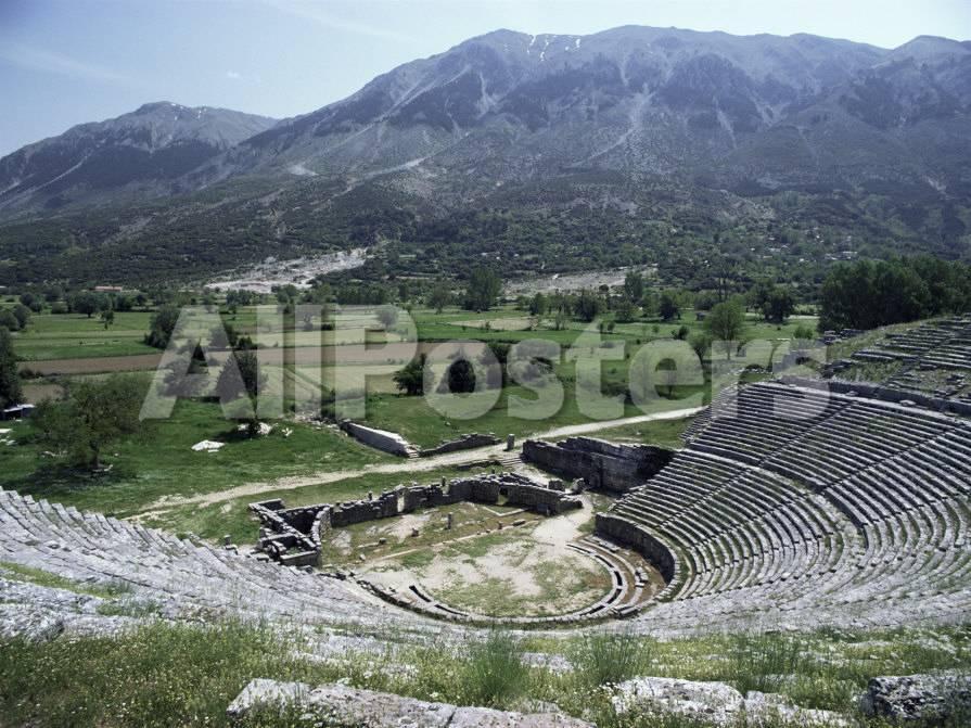 Dodoni Theatre, Dodona, Central Ipiros (Epirus), Greece Fotografie ...